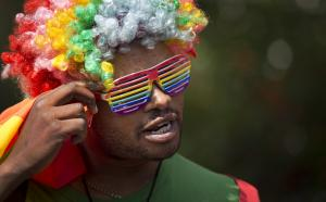 Participant in a rally in Nairobi in February, protesting against Uganda's anti-gay legislation.