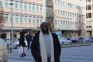 26 years old Valerie Viban from Cameroon is doing his