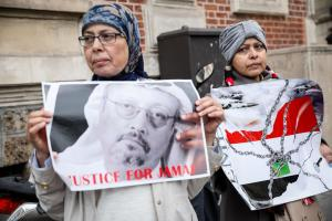 Protestors in Paris: Jamal Khashoggi, a critic of Mohamed bin Salman, the crown prince of Saudi Arabia, was killed in the country's consulate in Istanbul in October.