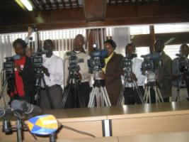 Journalists attending a press conference in Nairobi in 2010.