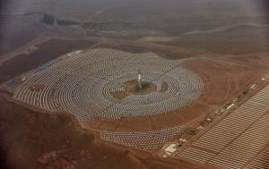 German ODA supported the solar power plant Noor 3 in Ouarzazate, Morocco.