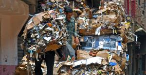 In Cairo, Egypt, garbage collectors make a living by collecting and sorting trash.