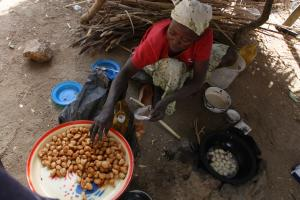 Women must not work only in the informal sector: selling snacks in a market in the north of Cameroon.
