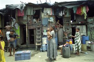 Poverty is not as obvious everywhere as in this Mumbai slum.