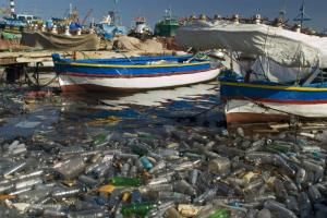 To keep it out of the oceans, plastic should be collected and recycled: the port in Tripoli, Libya.