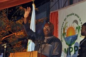 Roch Marc Christian Kaboré won more than 50 % of the votes in the presidential election's first round.