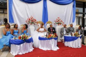 In Ethiopia, birth rates range from 1.5 to seven children per woman depending on the region: a Catholic wedding in Addis Abeba.