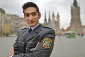 Siawah Ebadi from Afghanistan has become a police officer in eastern Germany.