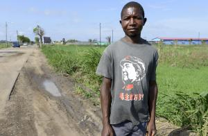 South-south cooperation does not always serve poor people: Mozambican man in a Mao T-shirt.