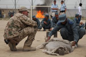 A training camp for Afghan police forces under the purview of the Bundeswehr.