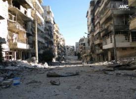 Aleppo, damaged by war.