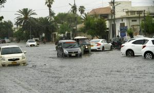Extreme weather events are becoming ever more frequent in Pakistan: flooding in Karachi in July.