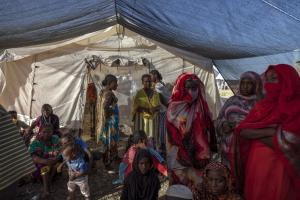 Tigrinya refugees in Sudan in early December 2020.