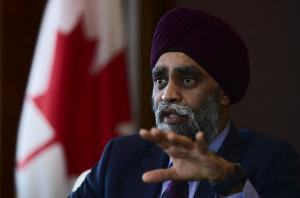 Harjit Sajjan is Canada's minister of defence.
