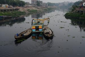 The river Turag in March 2020.