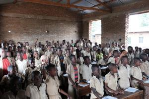 Schools in Burundi are overcrowded and often still under construction.