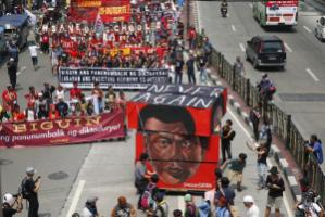Anti-Duterte protests on 21 September 2017, 45 years after Ferdinand Marcos declared martial law.