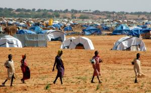 Civil war crimes often go unpunished: a refugee camp in North Darfur.