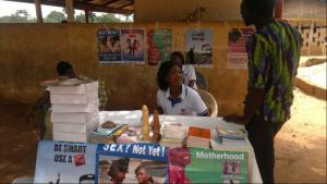 Members of the Planned Parenthood Association of Ghana inform the public about sexual rights, contraception and motherhood.