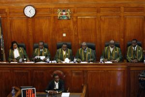 Supreme Court justices in Kenya.