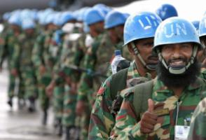 Bangladeshi peacekeepers in Liberia
