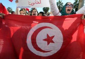 Tunisian rally.