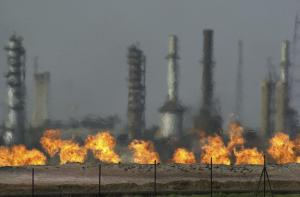 Iraq's economy depends on oil.