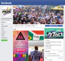 Facebook page of Johannesburg Pride, the annual rally for the rights of homosexual people.
