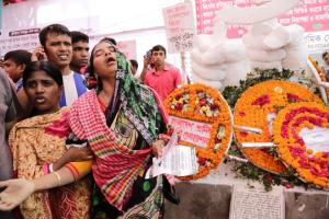 Memorial on the third anniversary of the Rana Plaza collapse.