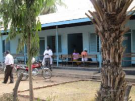 Rural Tanzanian health centre: in developing countries, policymakers often find it easier to convince voters of investing government funds in social services than in long-term environmental protection.