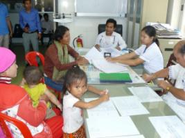 Patient admission in a district hospital.