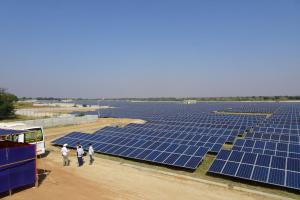 Solar park near Bangalore in India.