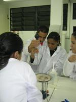 Lab training: Anhanguera students on campus in the Sao Paulo agglomeration.