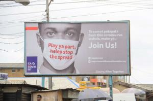 Everyone must play their part: Covid-19 awareness billboard in Lagos in spring 2020.