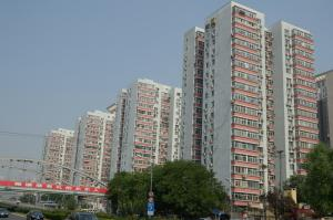 These apartment buildings in Beijing have been renovated to improve their energy efficiency.