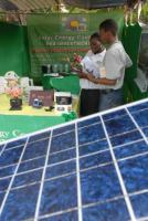 African progress has been hampered by too scant investments: stand at a solar-power trade fair in Dar es Salaam in 2006.