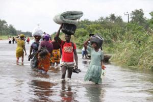Nigerians displaced by flooding in 2012.