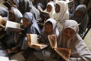 Teenagers should go to school, not be parents: school girls in Nigeria's Kano state.