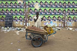 Self-employed people  in the informal sector normally cannot save much money for hard times: street vendor  in Kano.