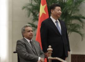 Ecuador is struggling to service Chinese loans: President Lenín Moreno with his Chinese counterpart Xi Jinping in Beijing in December 2018.