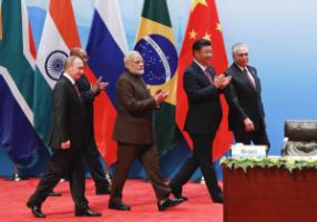 No coherent vision: BRICS leaders in Xiamen, China, in 2017.