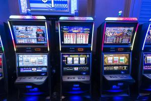Gambling and other forms of addictive behaviour are particularly common in unequal societies – slot machines in Las Vegas.