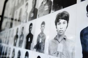 Documentation in the Tuol Sleng Genocide Museum in Phnom Penh.