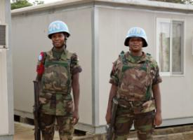 UN peacekeepers in Cote d'Ivoire in 2012.