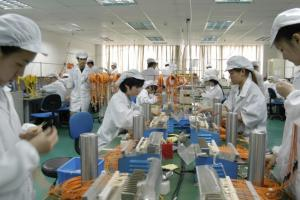 China's industrial policy was successful: afibre glass factory in Ghuanzhou.