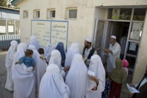 Rural mothers at a paediatrics clinic run by BRAC in Afghanistan in 2009.