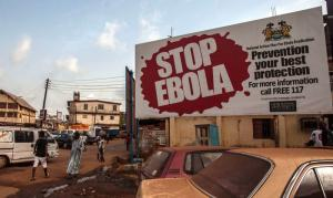 Aktuelle Anti-Ebola-Kampagne in Freetown, Sierra Leone.