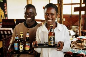 Regional integration versus world market competition: two of Tanzania's favourite beer brands  (Serengeti and Tusker) belong to a Kenyan parent company EABL, while two others (Kilmanjaro and Safari) belong to the global giant SAB Miller. All are produced in the East African Community.