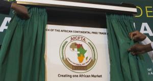 Unveiling of the AfCFTA logo in Kigali in March 2018.