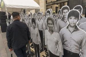 Colombia's holistic approach to building peace is setting examples: commemorating killed and missing people in Bogotá in October 2018.